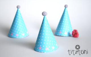 Vorlage für DIY Partyhüte