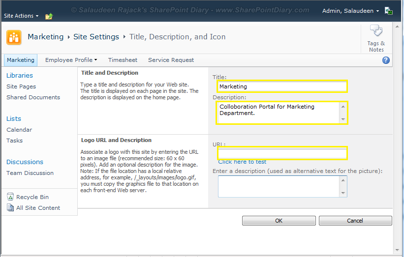 Change SharePoint Site Title, Description and Icon with PowerShell