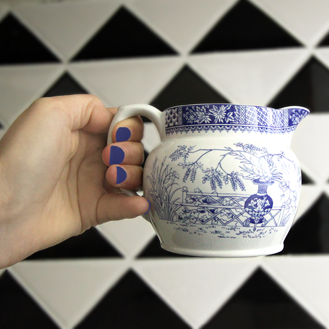 #thriftscorethursday Week 67 Spode Blue Collection Creamer + #dearTST | www.blackandwhiteobsession.com