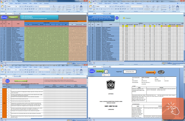 Aplikasi Pengolahan Nilai Kelas 5 Sd Format Microsoft Excel Guru Netter