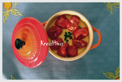 Sformato pomodorini e erba cipollina