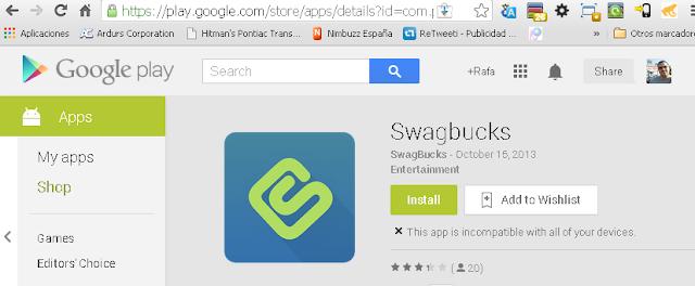 Cómo descargar Swagbucks desde Google Play