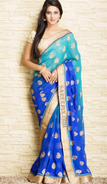 Jennifer-winget-designer-saree-photoshoot-Meena-Bazaar