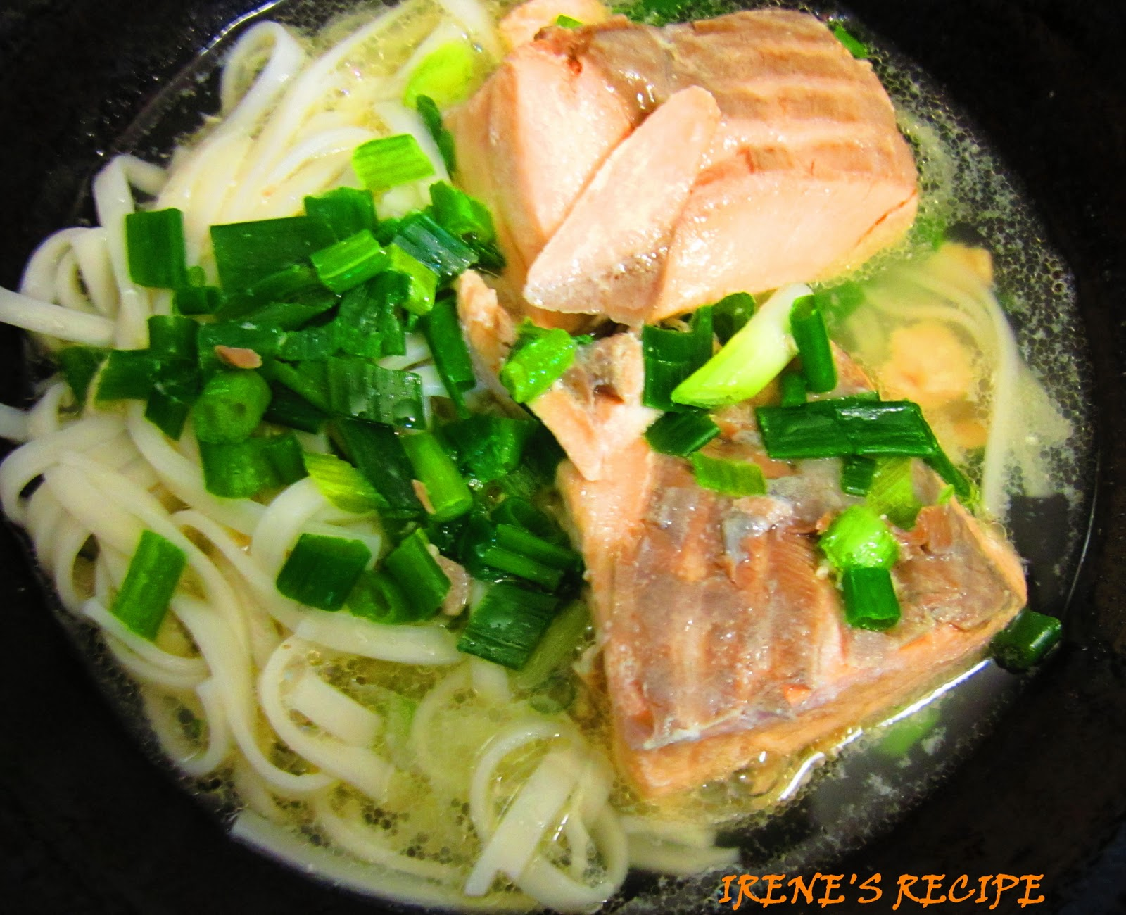 Irene's Recipe: Salmon Noodle Soup