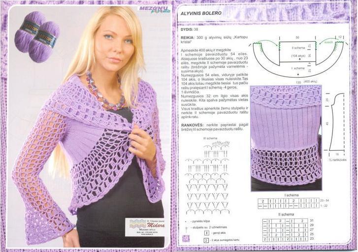 Atractivo Bolero Patrón De Crochet Regalo - Ideas de Patrón de Tejer ...