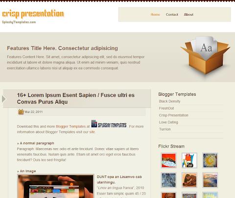 Crisp Presentation Blogger Theme
