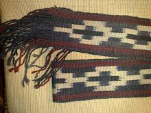 Fajas de lana, tejidas en telar
