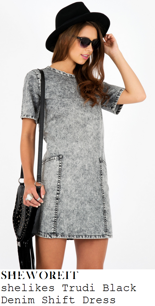sam-faiers-black-grey-faded-acid-wash-short-sleeve-denim-dress