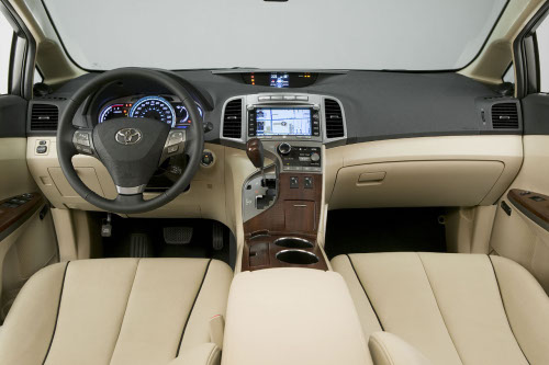 Interior shot of 2011 Toyota Venza
