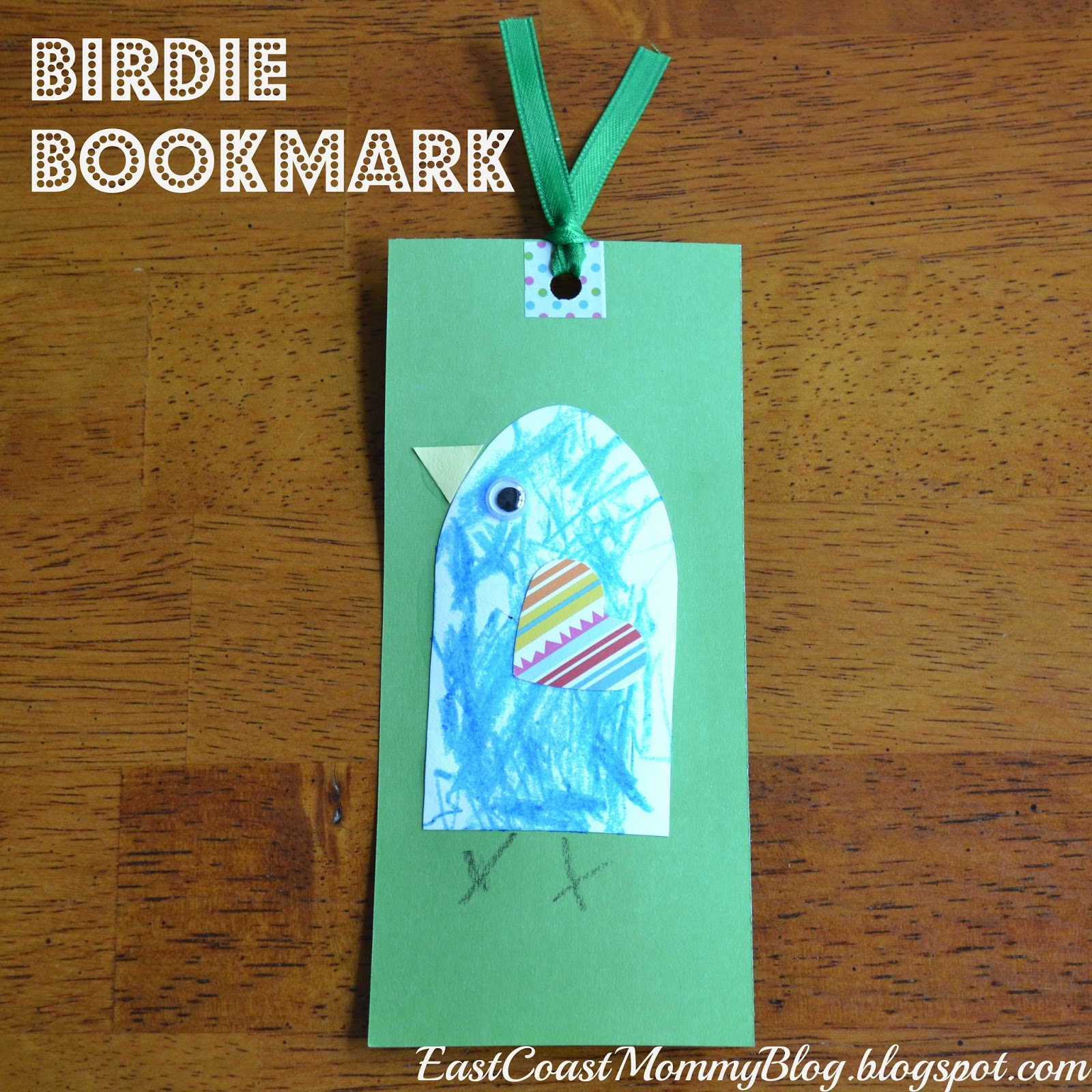 East coast mommy ecm kids 39 craft club 15 bird bookmark for Bookmark craft for kids