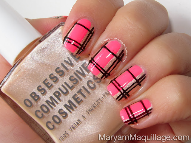 Maryam maquillage summer neon plaid nail art how to its mani monday and im excited to present todays fun summery hand painted nail art tutorial this nail design is super easy to replicate all you prinsesfo Choice Image