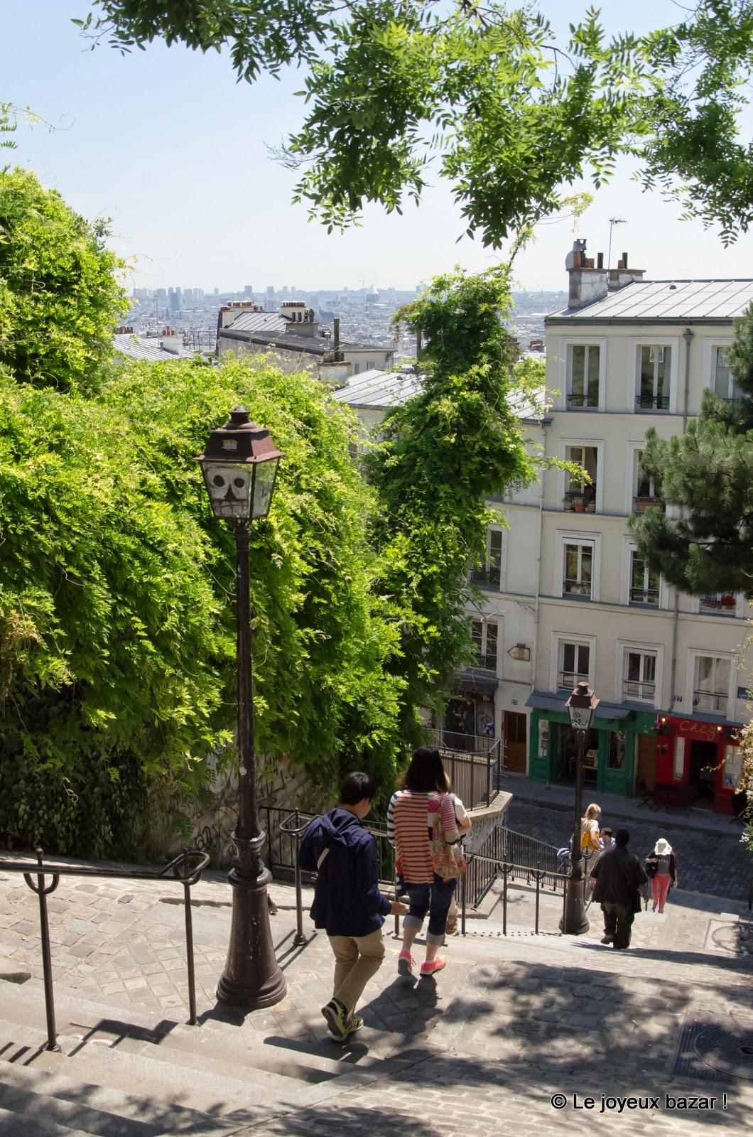 Paris - Montmartre - escalier