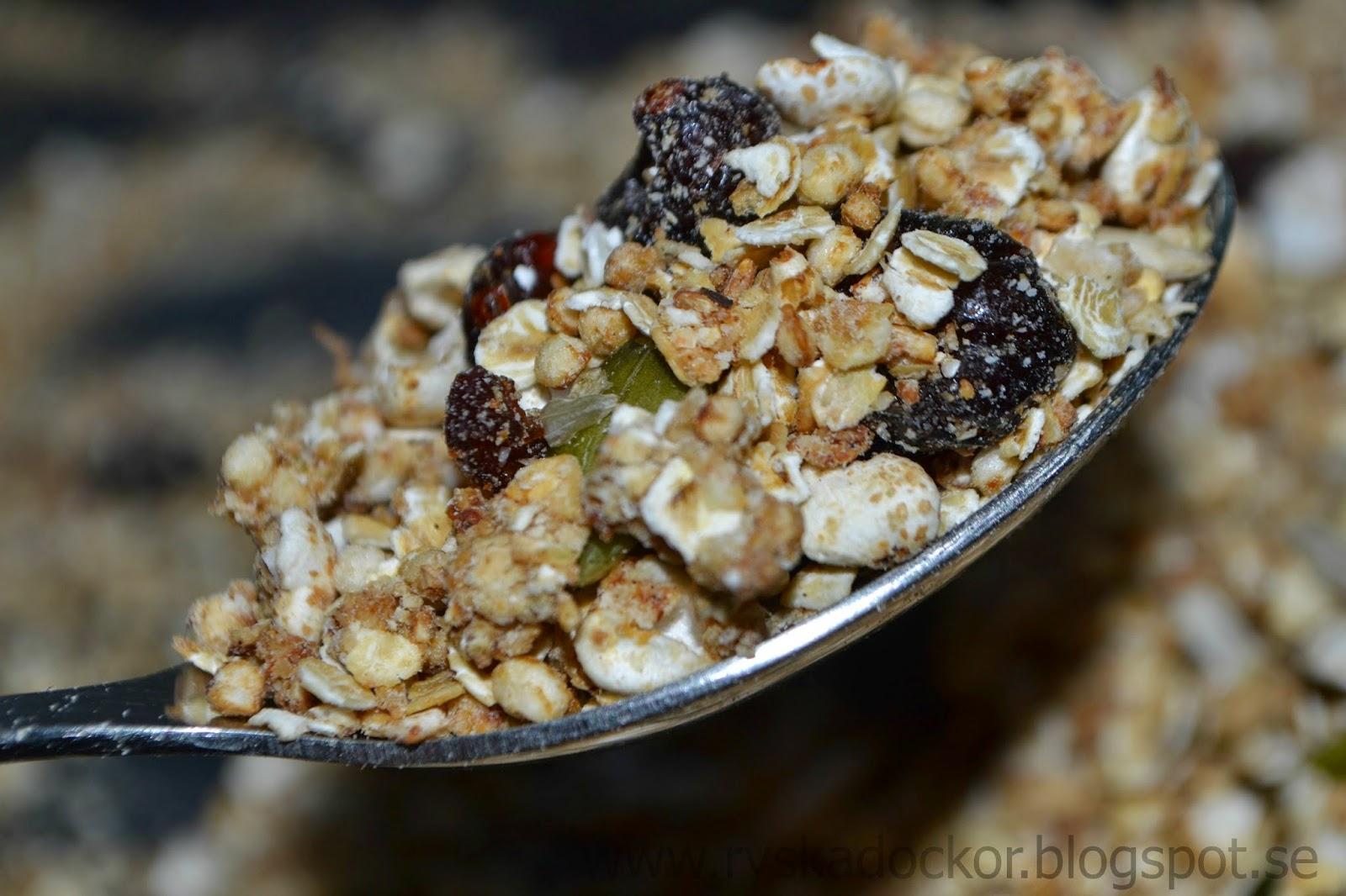 hemmagjord glutenfri musli