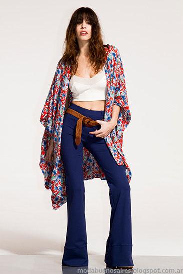 Moda primavera verano 2016. Pantalones oxford y kimonos primavera verano 2016. Moda 2016.