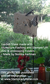 Embossed Metal Garden Stake made with the Big Shot