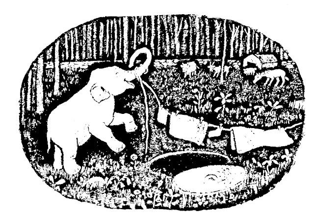 Desenho do O Elefantinho que Caiu no Poço para colorir