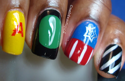 The Avengers Nail Art