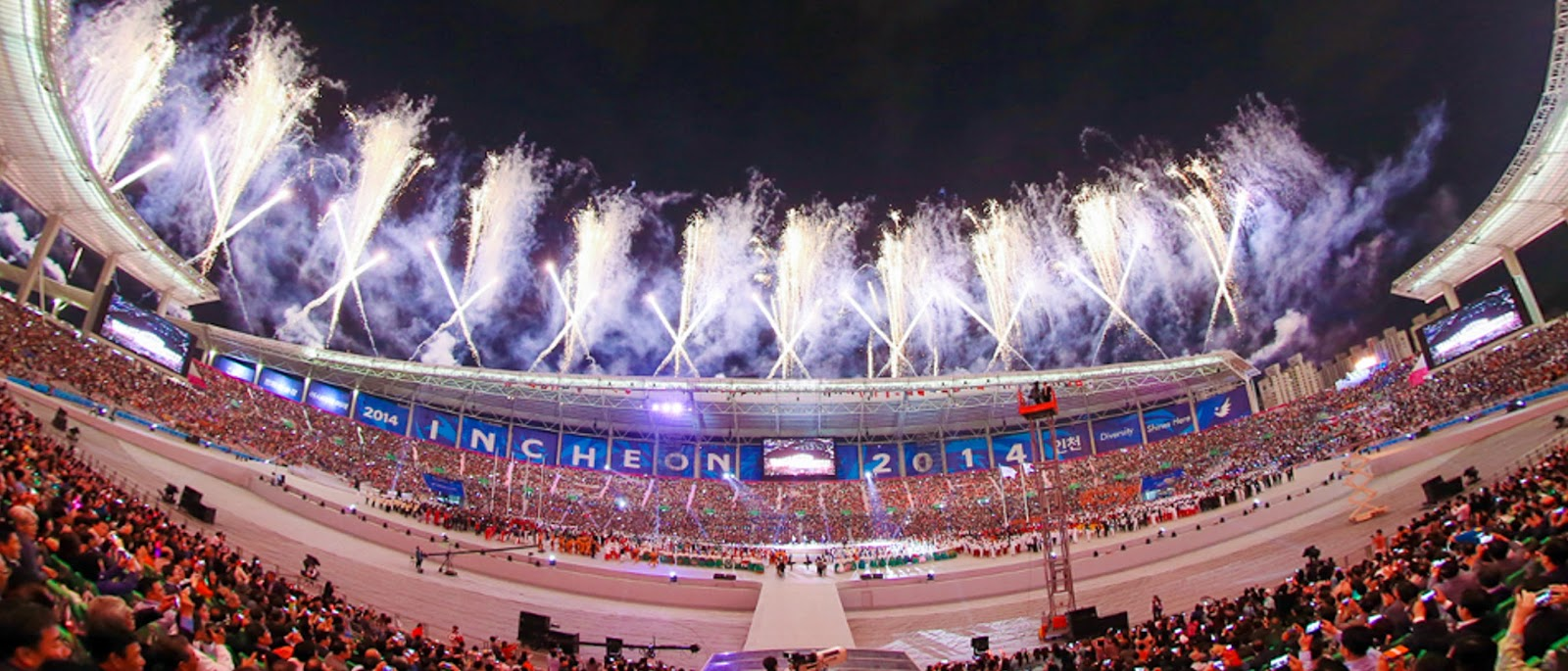 Fireworks at 2014 Incheon Asian Games Open Ceremony