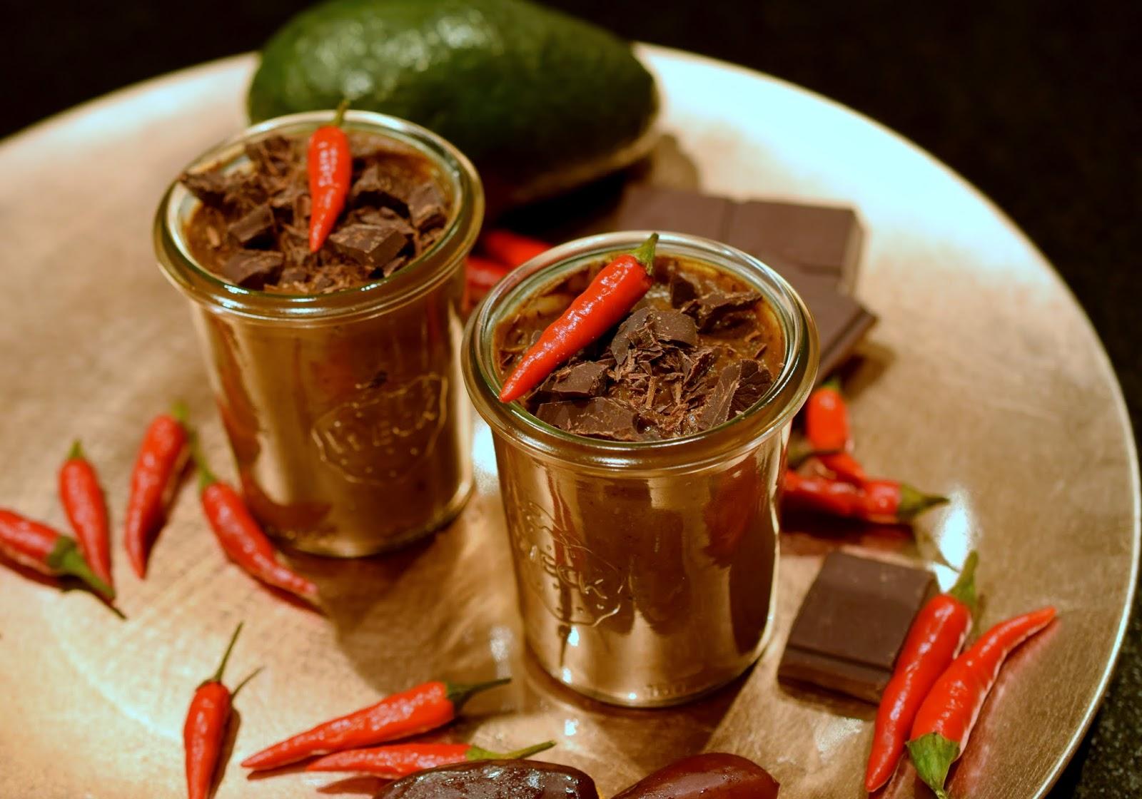 Schnelles einfaches Rezept Healthy Chili-Mousse-au-Chocolat