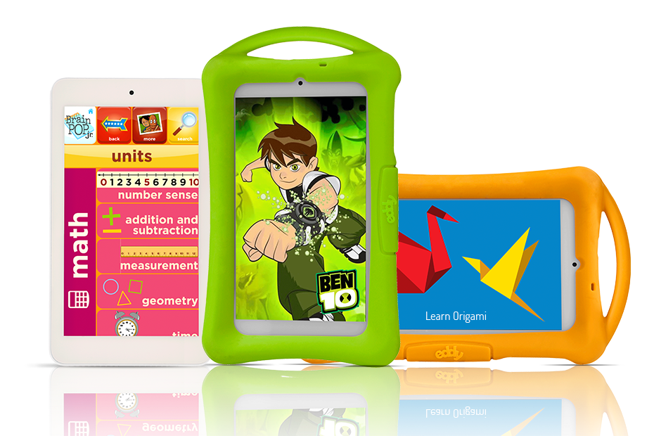 Eddy Kids Tablet (WiFi), Intel Series with Bumper Case. Cartoon Network Learning, Ben 10 and Creativity Tablet