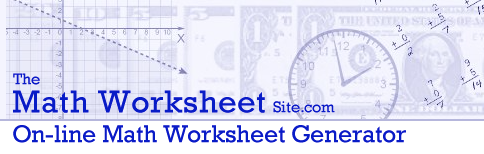 Maths Worksheet Generator