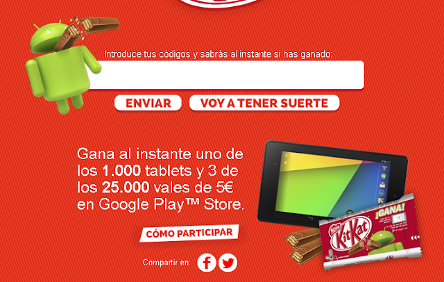 Consigue una Nexus 7 o hasta 15€ para gastar en Google Play.