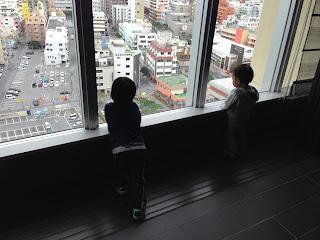 リーガロイヤルグラン沖縄の最上階からの眺め