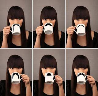 diseño creativo de taza muy divertida con bigote
