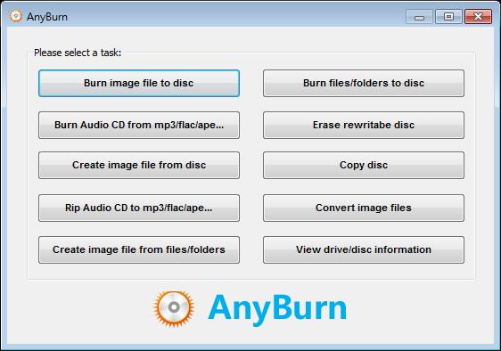 AnyBurn Portable 免安裝綠色版下載,USB可攜式免費DVD光碟燒錄軟體
