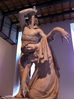 Statue of Suicidal Gaul in Palazzo Altemps.