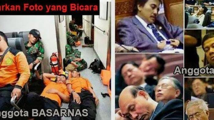 Foto : Biarkan Foto Bicara, Basarnas atau DPR RI?