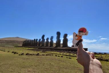 Un nou Moai a l' Illa de Pasqua.