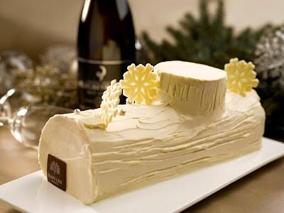 Champagne Log Cake