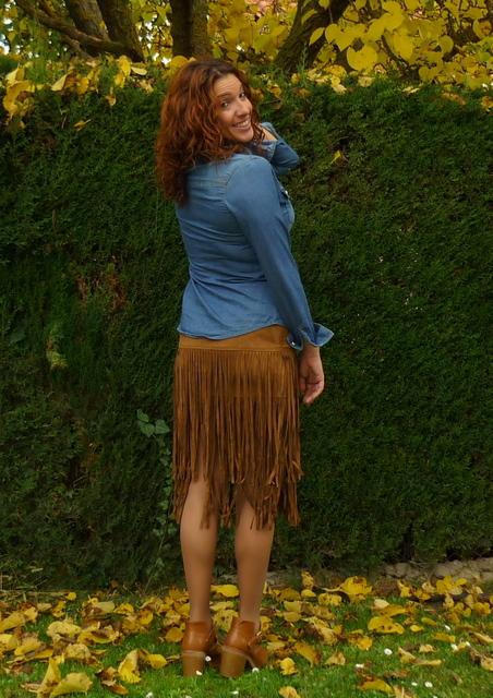 falda flecos otoño