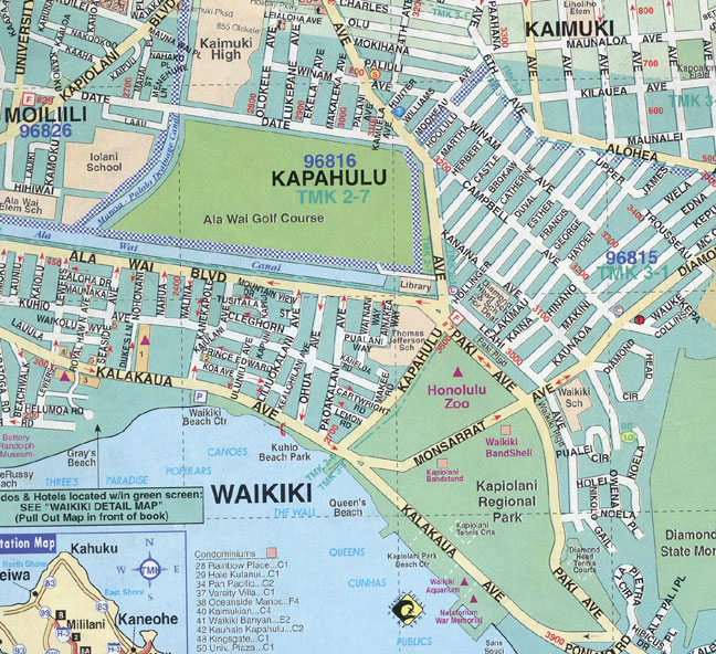 Map Of Waikiki Pictures  Map Of Hawaii Cities And Islands