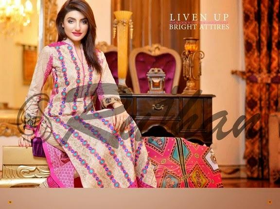 FestivanaEidCollectionByRujhanFabrics wwwfashionhuntworldblogspot 20  - Festivana Eid Collection 2014-2015 By Rujhan Fabrics