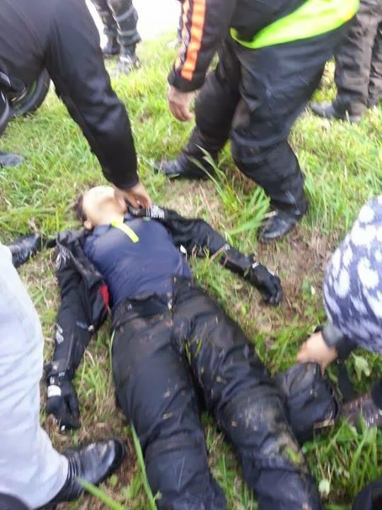 25-11-13 Kemalangan melibatkan bikers wanita yang menunggang Honda CBR
