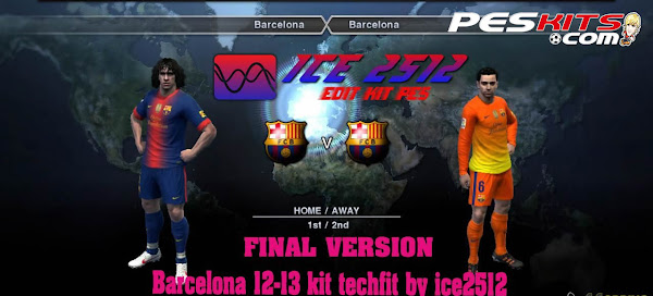 PES 2012 Barcelona FC 12/13 Kits by ICE2512