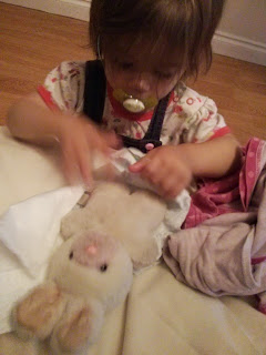 changing bunny nappy