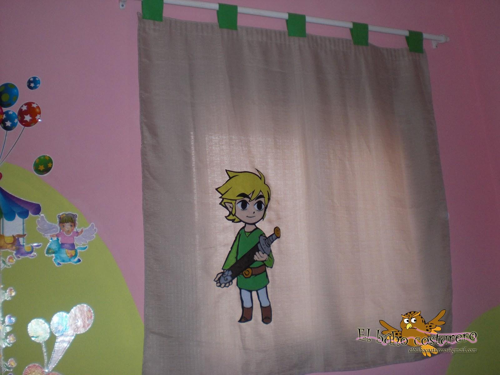 El b ho costurero the legend of zelda cortina en fieltro - Pegatinas para cortinas ...