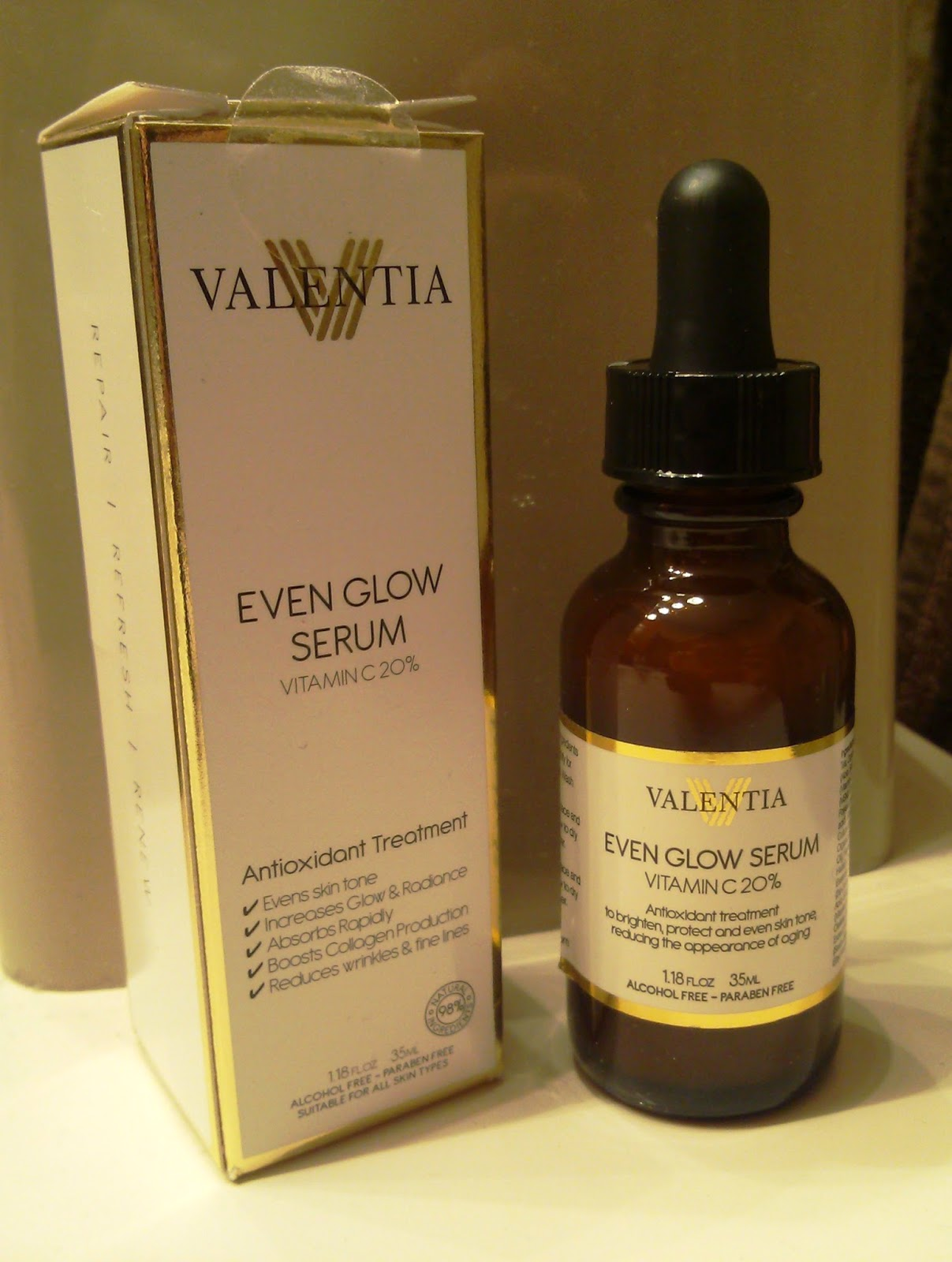 Valentia Even Glow Serum - Antioxidant Skin Treatment Review