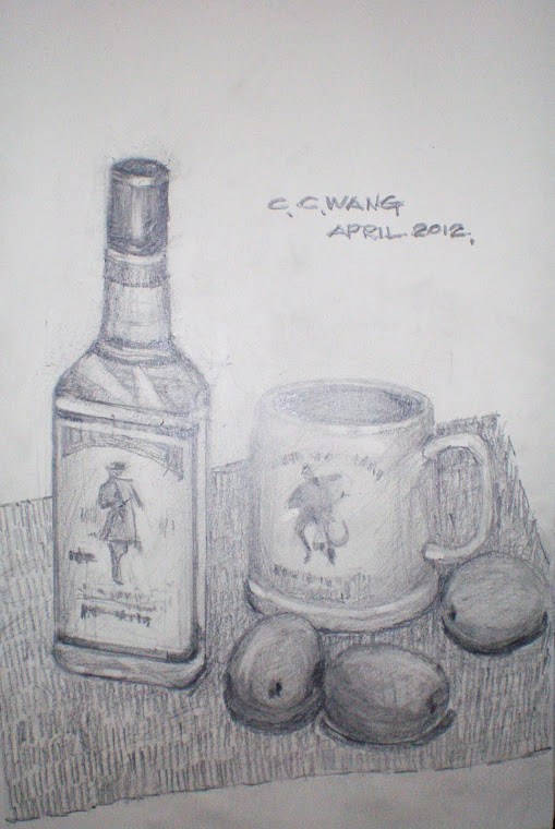 pencil - wine and cup 012