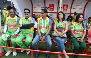 Malayalam and Kannada Film Actresses Pictures at CCL 3 Semi Final 1 Match  0006