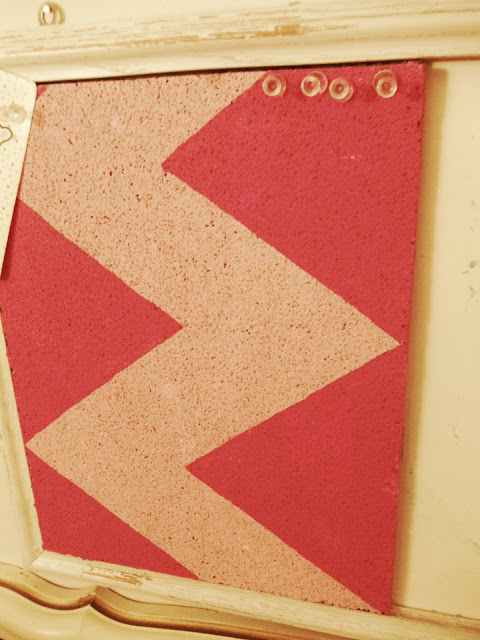 REDOS, DIY Cork board, DIY CRAFTS, chevron cork board