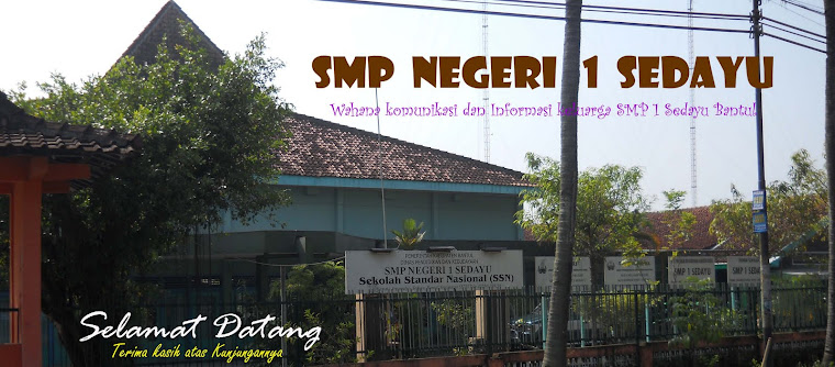 <center>SMP 1 SEDAYU</center>