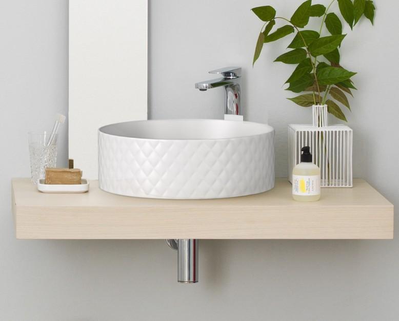 7 ideas con fotos para lavabos sobre encimera de madera - Lavabos dobles sobre encimera ...