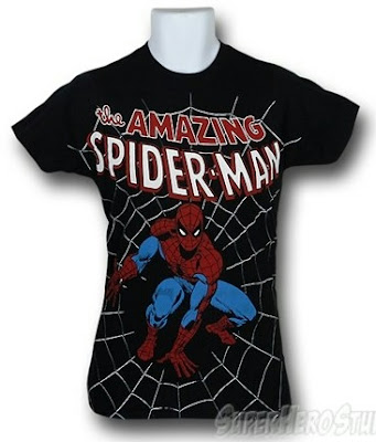 Click here to purchase Spiderman Crouch Big Print T-shirt at SuperHeroStuff!