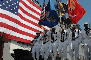 The Presentation of the Colors on board the USS Essex (photo courtesy of the United States Navy)