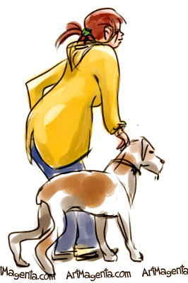 Hunting for a new boyfriend is a gesture drawing don on an iphone by Artmagenta