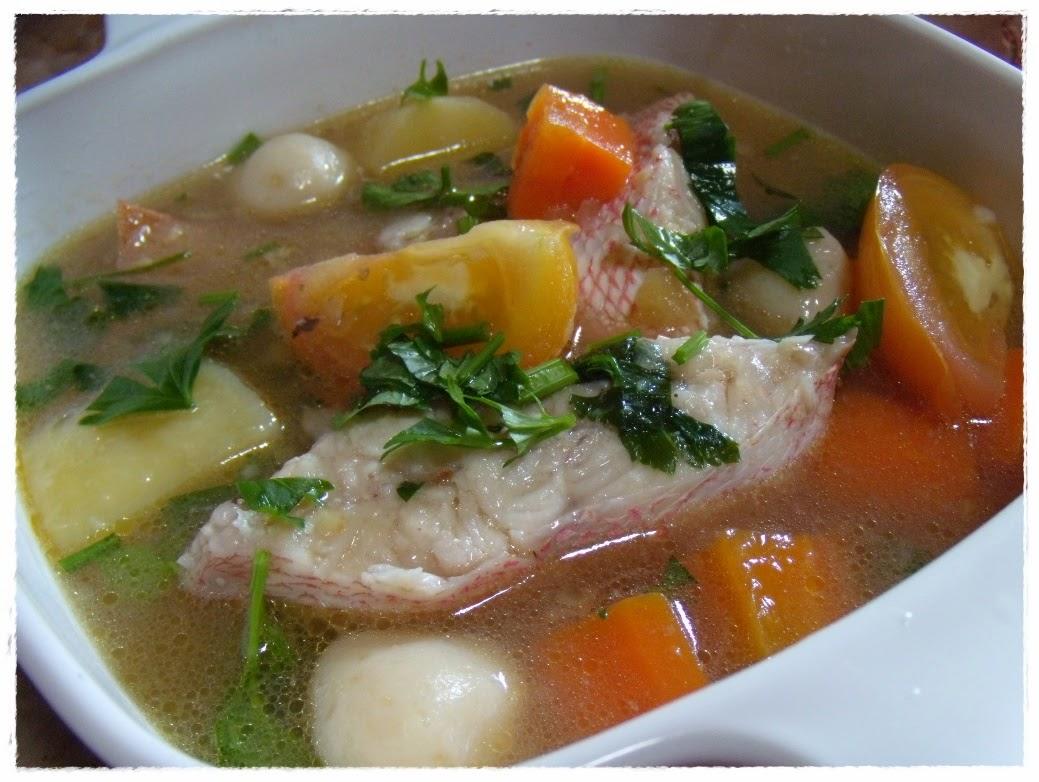 Resep dan Cara Membuat Sup Ikan Kakap Tahu Sayur Asin